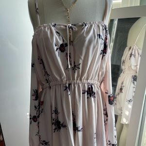Haoduoyi Pale Pink Floral Romper size XXL (small)